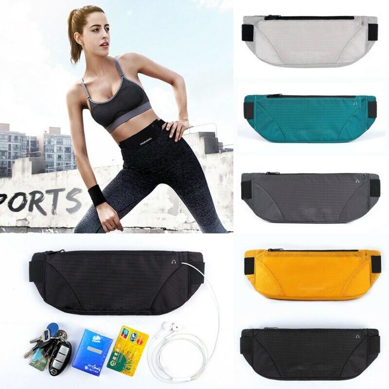2019 New Fashion Unisex Women Men Waist Pack Solid Zipper Waterproof  Adjustabel Belt Spirts Travel Casual Waist Bag