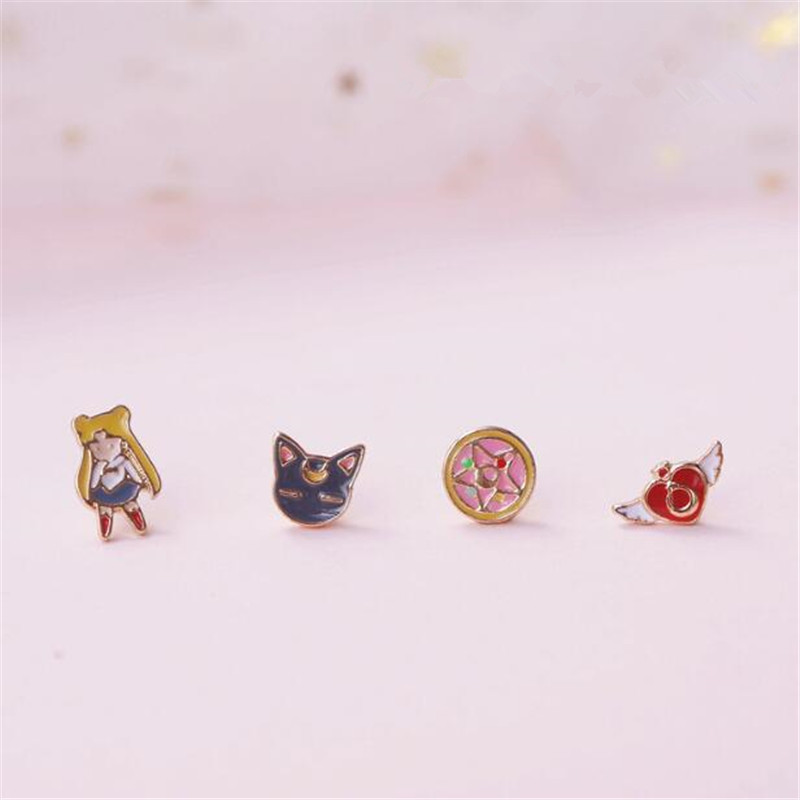 Sailor Moon 20th Anniversary Luna Acrylic Lovely Head Rope Accessories 2 piece