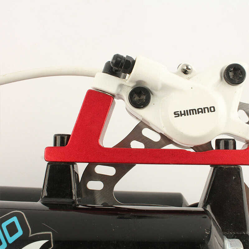 can include rotor MTB Disc Brake Caliper Mount Adapter Front Rear PM IS 180 203