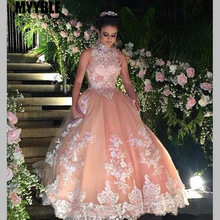 Ball-Gown Quinceanera-Dresses Champagne Prom-Dress Lace Party 15-Anos Sweet 16-Year Debutante