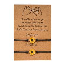Bijoux Vintage tournesol Bracelets de créateur or tournesol citation souhait Bracelet Pinky promesse Couple bijoux femmes