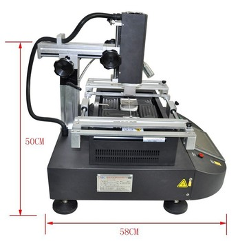 CE Approved ZM R5830 Hot Air BGA Rework Station 3 Zones BGA Machine with Bga Tools for Mobile Chip Repair 2