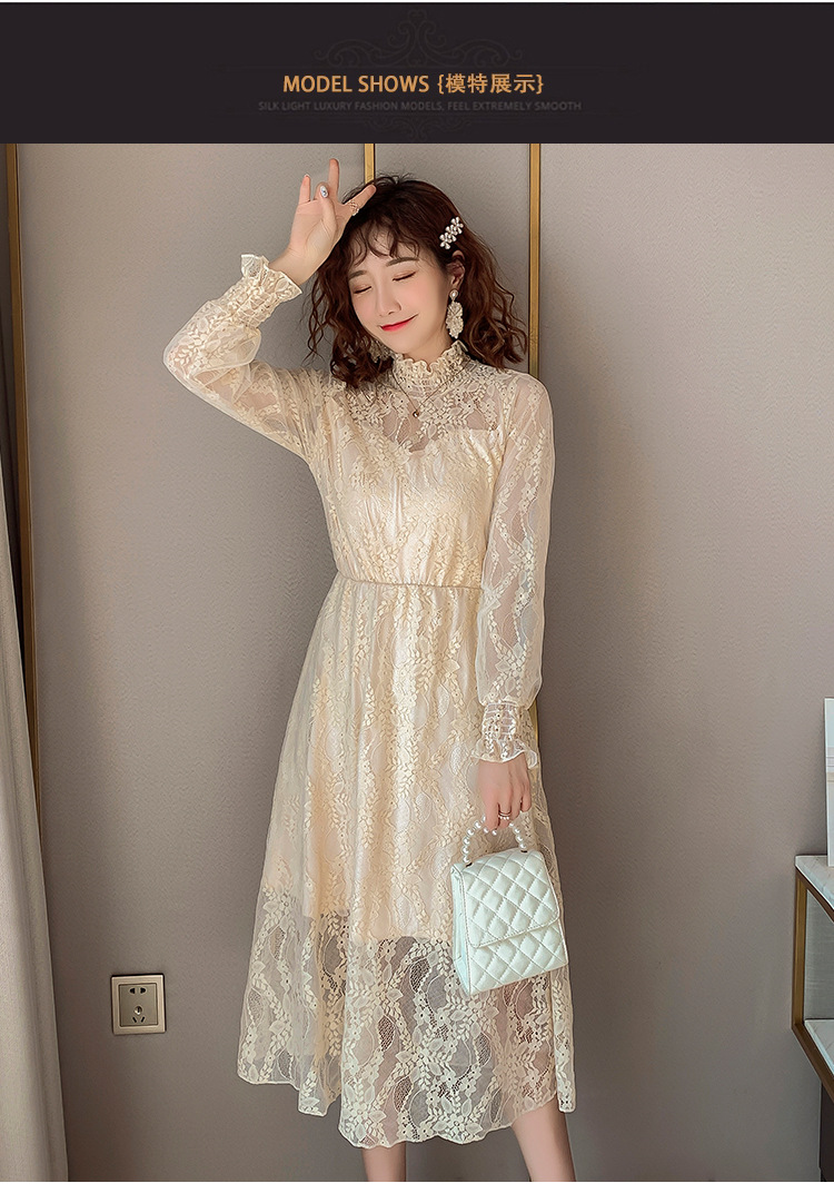2020 Maternity clothing summer twinset lace maternity one-piece dress white embroidery maternity dress For Pregnant (11)