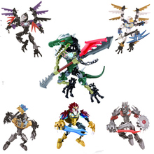 CHIMAED Super Heroes Figures Building Blocks Weapon Qigong legendary Animal Model Bricks Toys For Children dhl lepin ninja figures 1501pcs 06058 temple of the ultimate weapon model building kits blocks educational bricks kid toys 70617