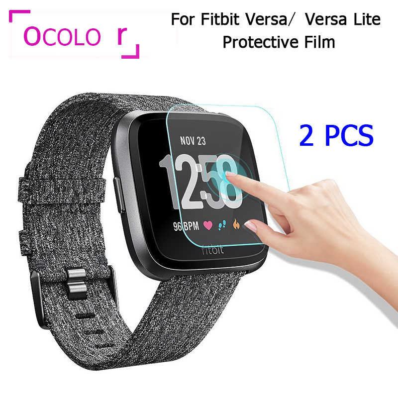 2PCS Films For Fitbit Versa Soft TPU Protective Films Guard For Fitbit Versa Lite Smart Watch Full Screen Protector Glass Films