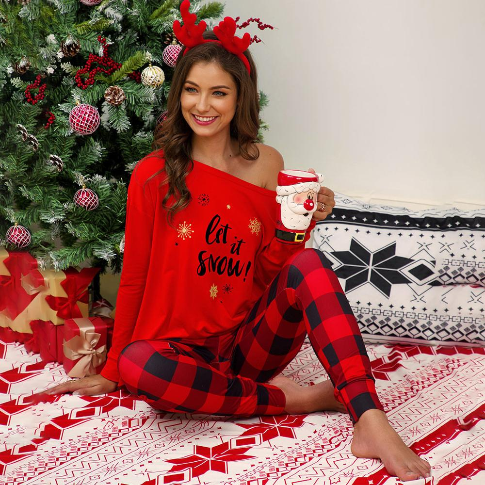 Conjuntos De Pijamas De Cuadros Escoceses Informales De Talla Grande Para Mujer Conjunto De Pijama Con