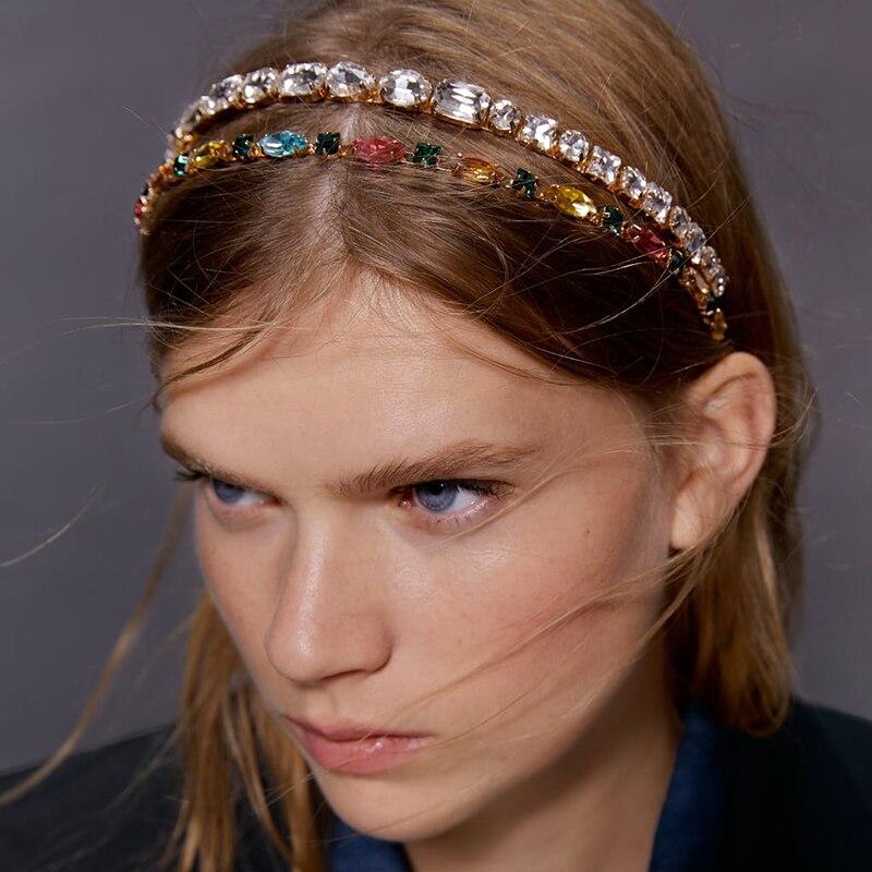 Amazing Colorful Headband Head Chain Girl Rhinestone Band Crystal Bead Hair