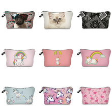 Vogvigo New Printing Makeup Bags With Multicolor Pattern Cute Cosmetics Pouchs For Travel Ladies Pouch Women Cosmetic Bag