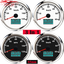 Speed-Odometer Boat Marine Motorcycle 85MM with COG Trip Total-Mileage Fit-For Car 12V