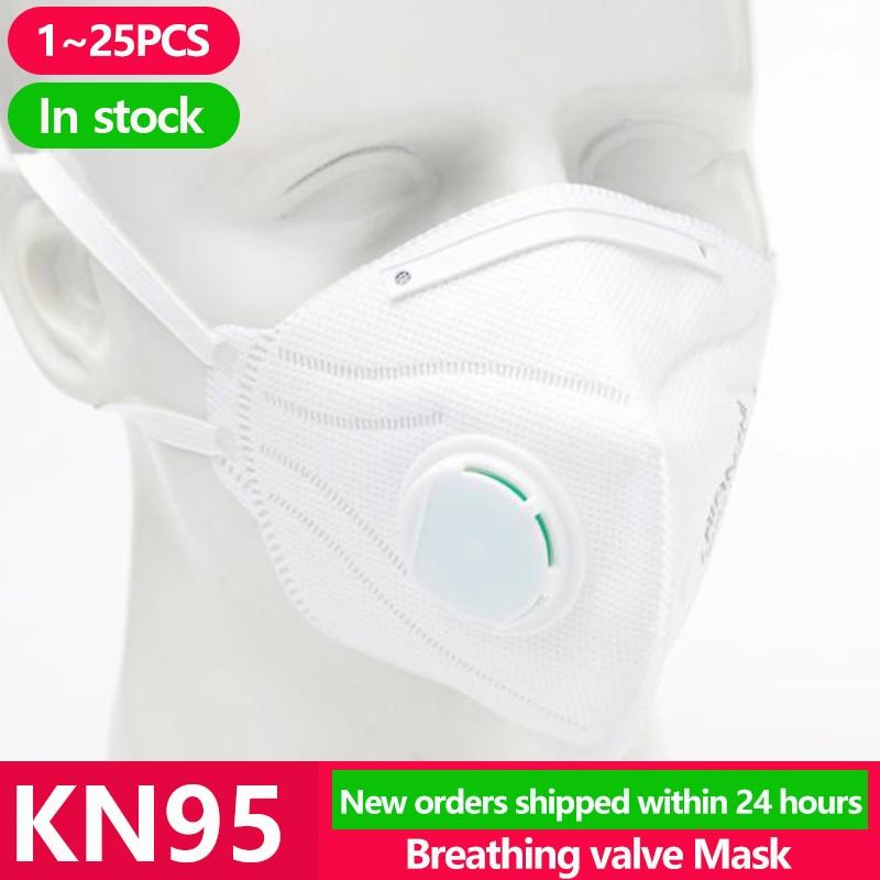 [1~25PCS] KN95 Disposable Face…