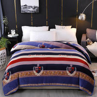 Gold velvet thickening Duvet Cover monopoly bedding set Color stripes Quilt Cover Red black 150cmx200cm/200cmx230cm/220cmx240cm