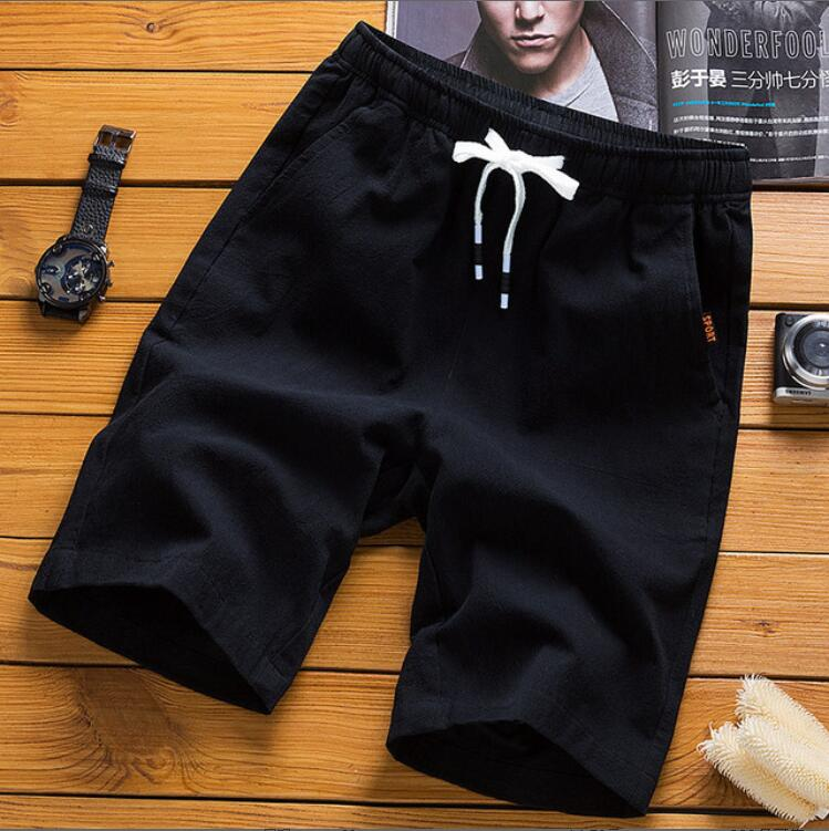 2019 New LJ364 Workout Cotton Shorts Men Summer Casual Shorts Sweatpants Fitness Boardshorts Fashion Joggers Solid Trousers
