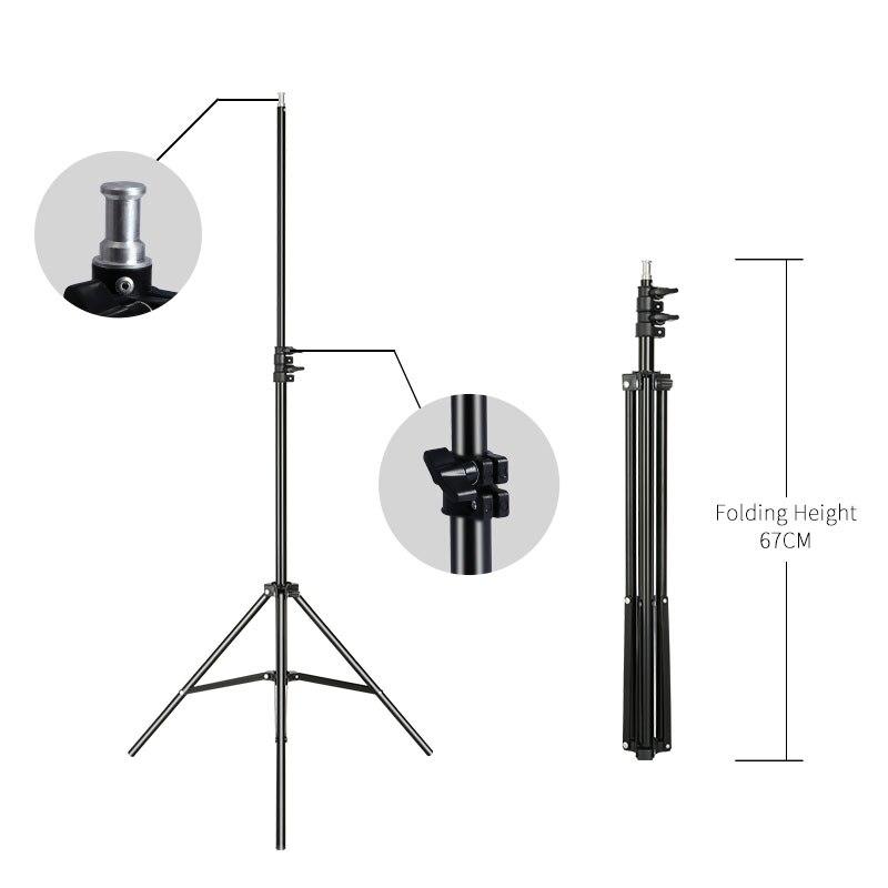 2 متر/6.5ft المهنية استوديو قابل للتعديل لينة صندوق فلاش المستمر ضوء حامل ترايبود