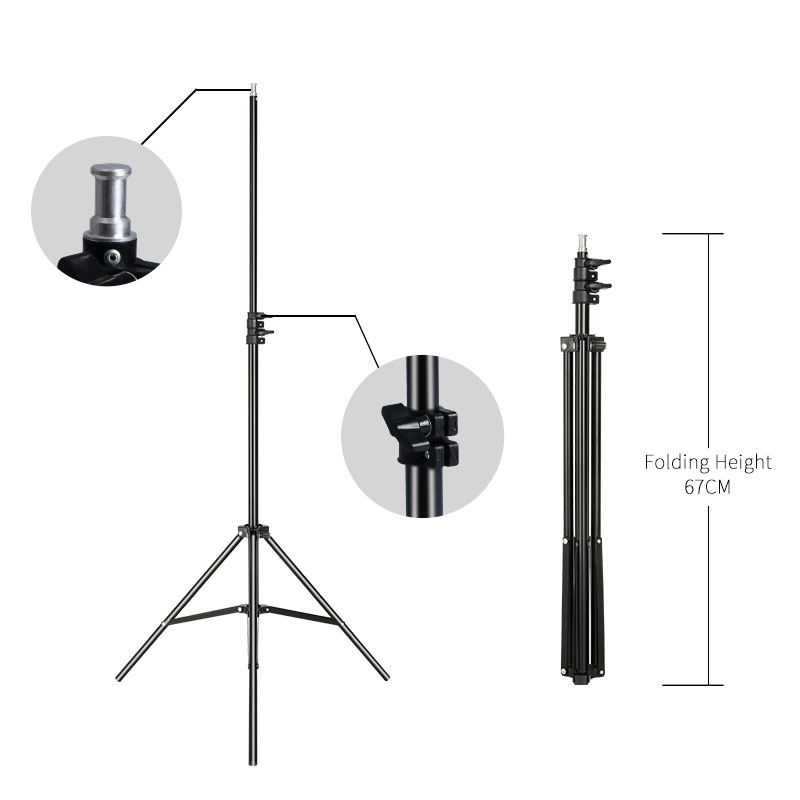 2m/6.5ft Professional Studio Adjustable Soft Box Flash Continuous Light Stand Tripod