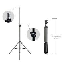 2m/6.5ft profesjonalne Studio regulowany miękkie pudełko Flash ciągłe statyw oświetleniowy