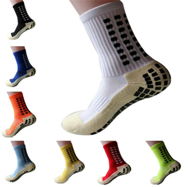 Новые спортивные Нескользящие футбольные носки, хлопковые мужские носки для футбола (такой же тип, как и Trusox)