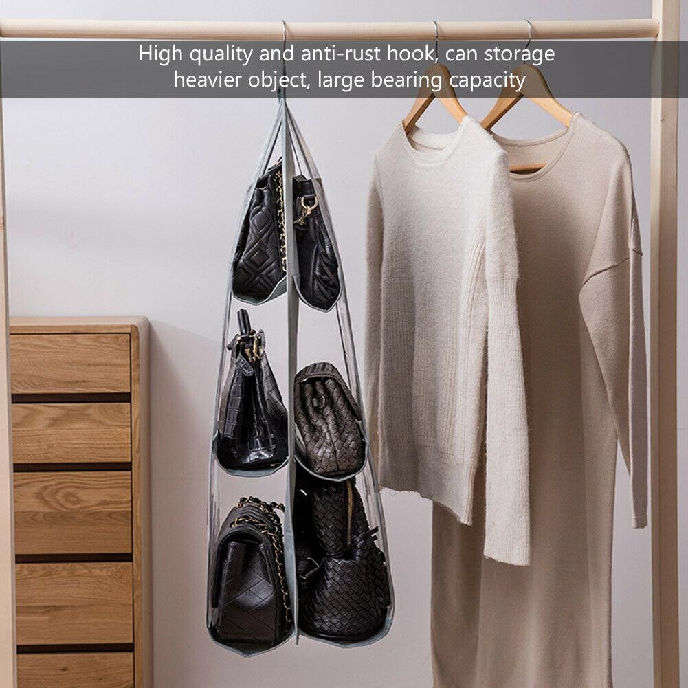 Hdd24a03d7faa4396aab84db57c565db5a - 6 Pocket Foldable Hanging Bag 3 Layers Folding Shelf Bag Purse Handbag Organizer Door Sundry Pocket Hanger Storage Closet Hanger