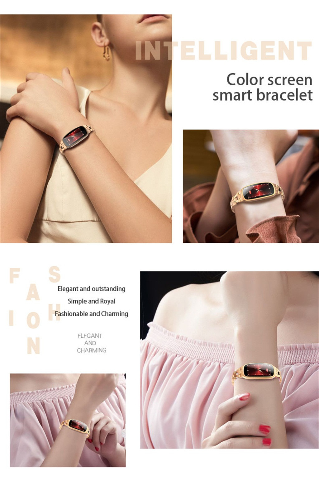 New Woman Fashion Smart Watch Color Screen Heart Rate