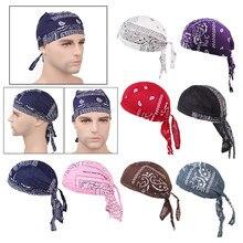 Unisex donna uomo cappello Bandana cotone Unisex Durag stampa berretto traspirante chemio turbante moda copricapo copricapo sciarpa testa pirata