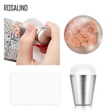 2 unids/set de estampador de uñas raspador Mango metálico uñas arte sello para estampación polaco imprimir manicura placa de imagen de herramientas