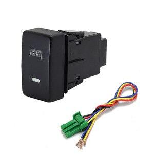 Image 4 - 1PC Recorder Monitor lautsprecher Radar Einparkhilfe Vorne Nebel Licht Scheinwerfer Schalter Taste Für Honda Fit 08 11