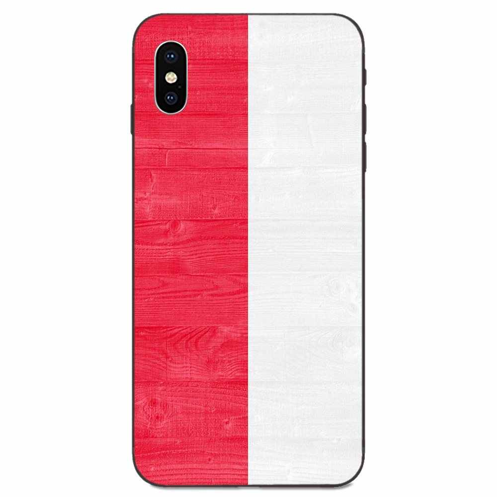 Silicone macio tpu preto padrão polónia polska bandeira para apple iphone 11 x xs max xr pro max 4 4S 5 5S se 6 s 7 8 plus