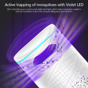 Image 4 - Led Mosquito Killer Lamp UV Night Light Photocatalyst USB Insect Killer Bug Zapper Mosquito Trap Mute Lantern Repellent Lamp