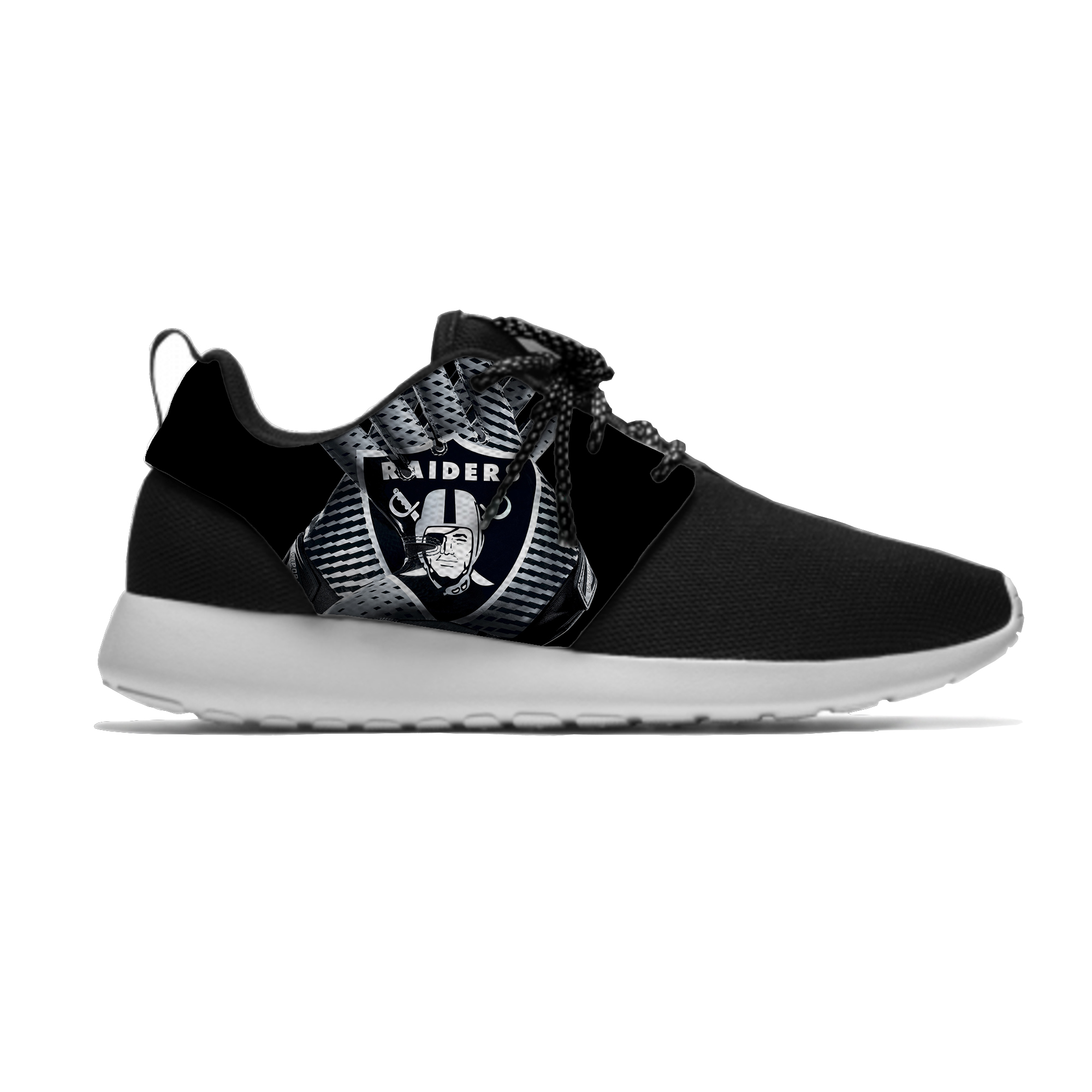 Raiders Breathable Casual Sneakers Men/Women Lightweight Sport Shoes Oakland Football Fans Running Meshy Shoes
