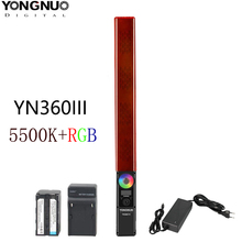 YONGNUO YN360 III YN360III Handheld LED Video Light 5500k RGB Color Temperature for Studio Outdoor Photography & Video Recording