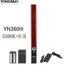 YONGNUO YN360 III YN360III ręczne światło LED do kamery 5500k kolor RGB temperatura do studia fotografia zewnętrzna i nagrywanie wideo