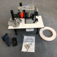 edge banding trimmer machine with gluing, trimming and end cutting with rotate function for straight,curve