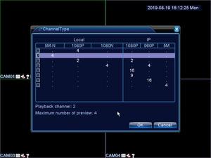 Image 5 - Enregistreur vidéo en réseau de vidéosurveillance H.265, 16 CH 1080P, NVR, 4 canaux, 5.0mp n XVI/AHD/CVI/TVI/CVBS/IP, 6 en 1, carte DVR hybride