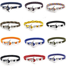 цена на Silver Jewelry Aircraft Bracelet Multilayer Rope Chain Bracelet For Women Men Navy Style Gift