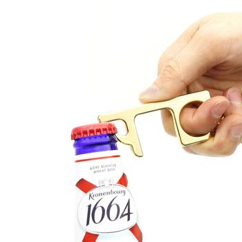 Piwo korkociąg Anti Contact mechanizm otwierania drzwi nie klawisz dotykowy mechanizm otwierania drzwi brelok-otwieracz bezdotykowy uchwyt drzwi winda klawisz dotykowy łańcuch tanie i dobre opinie CN (pochodzenie) Lakierowane Multifunctional keys STAINLESS STEEL
