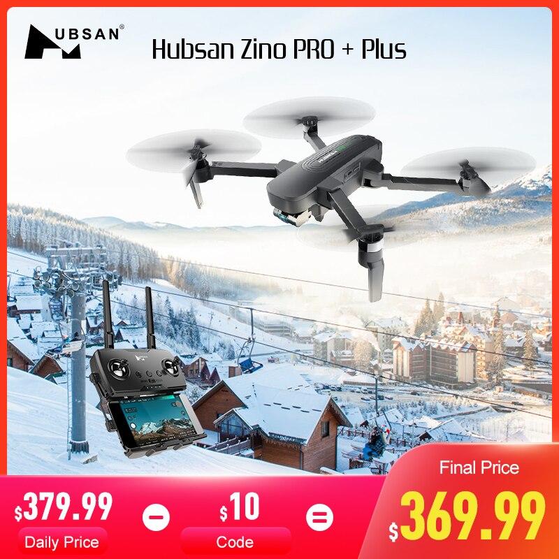 Original Hubsan Zino PRO + Plus + RC Drone Quadcopter GPS 5G WiFi 8KM FPV con 4K 30fps UHD de la Cámara de 3 ejes cardán 43 minutos FlightTime