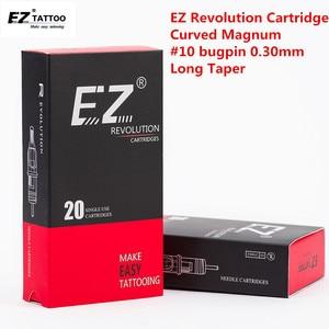 Image 2 - EZ Revolution Tattoo Needles Cartridge Curved Magnum Round Magnum # 10 (0.30 mm )  Long Taper 5.5 mm Tattoo Supply 20 pcs /box