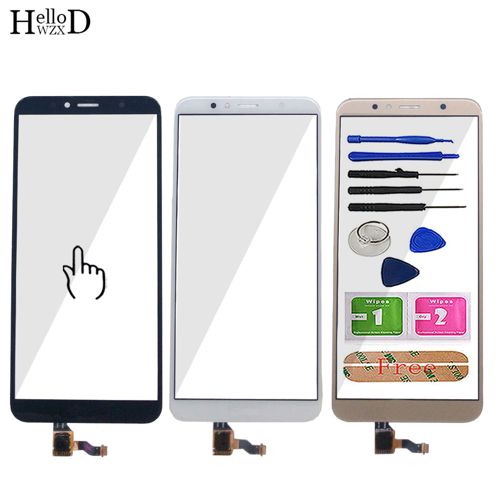 Touch Screen For Huawei Y6 2018 / Y6 Prime 2018 Touch Screen Digitizer Panel Lens Sensor Front Glass Repair Tools Adhesive