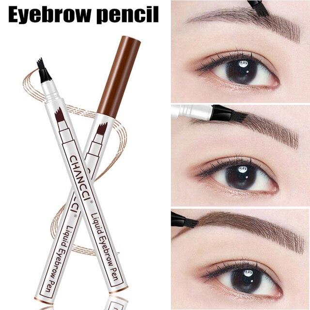 Newly Microblading Tattoo Eyebrow Pencil Long Lasting Waterproof Fork Tip Makeup Ink Sketch Eye Brow Pen CTN88 1