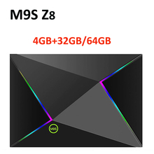M9S Z8 Smart Tv Box Android9.0 2.4G WIFI LAN 10/100M 6K HD Set Top Box 4GB 32GB/64GB 3D 2.4G Wireless Mouse Youtube Media Player
