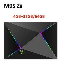 M9S Z8 Smart Tv Box Android9.0 2.4G WIFI LAN 10/100M 6K HD décodeur 4GB 32GB/64GB 3D 2.4G souris sans fil lecteur multimédia Youtube