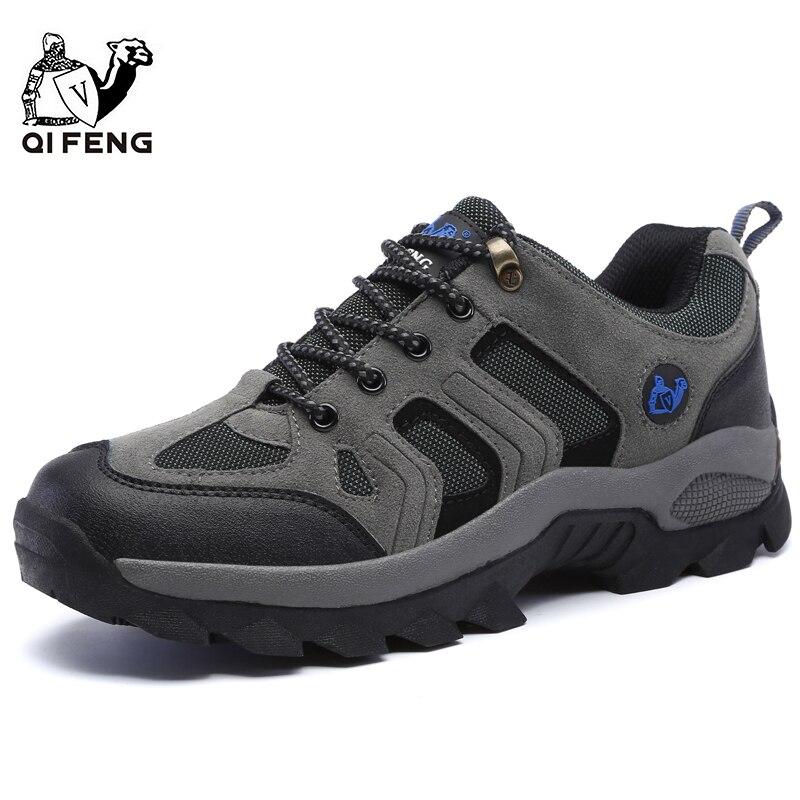 Erkekler kadınlar açık spor yürüyüş ayakkabıları nefes dağ tırmanma ayakkabısı Trekking ayakkabı klasik günlük çizmeler çift hediye