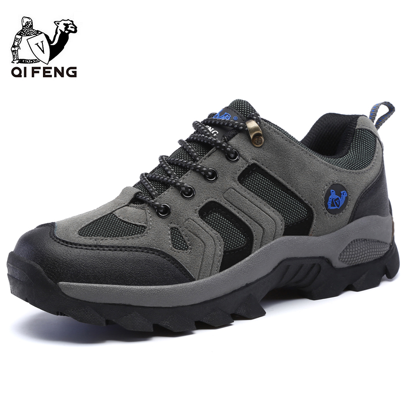 Men Women Outdoor Sports Hiking Shoes Breathable Mountain Climbing Footwear Trekking Sneakers Classic Casual Boots Couple Gift title=