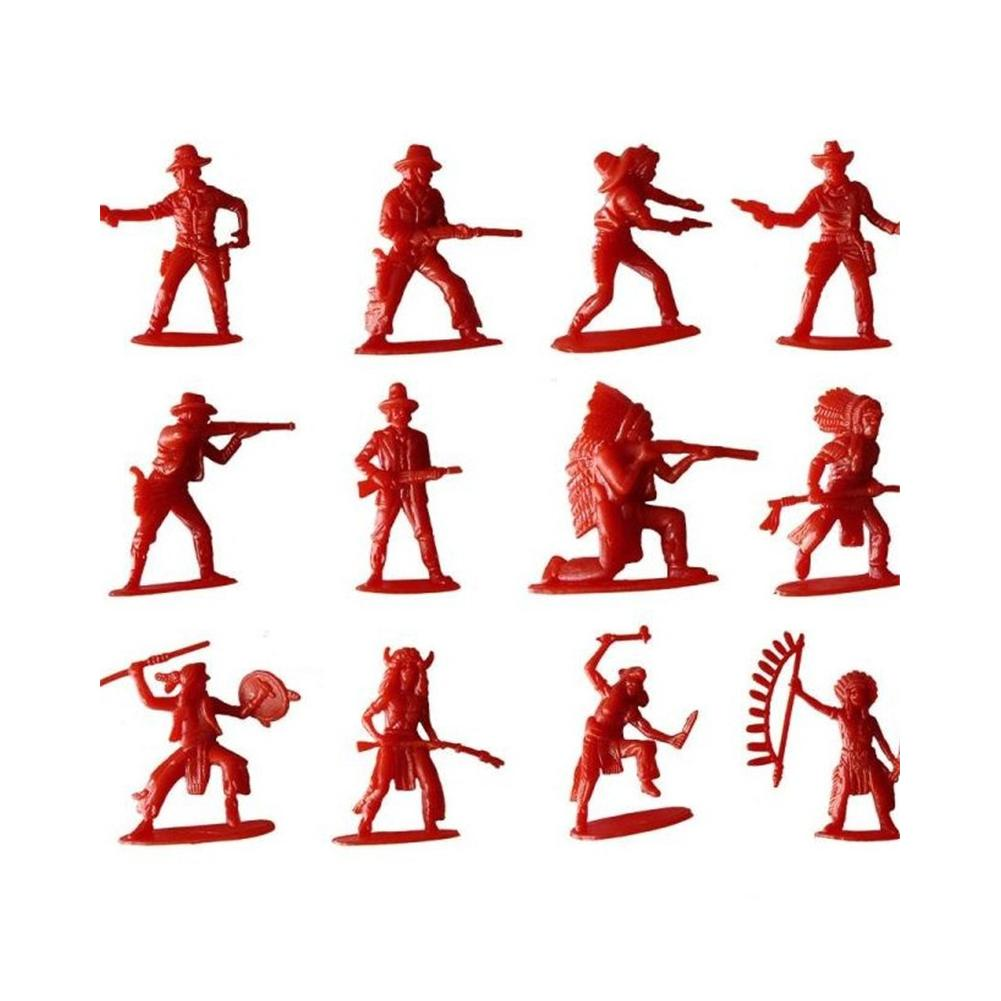 70Pcs/Pack Classic Indians & Cowboy Figures Army Soldiers Mini Toy Kids Gift 2017