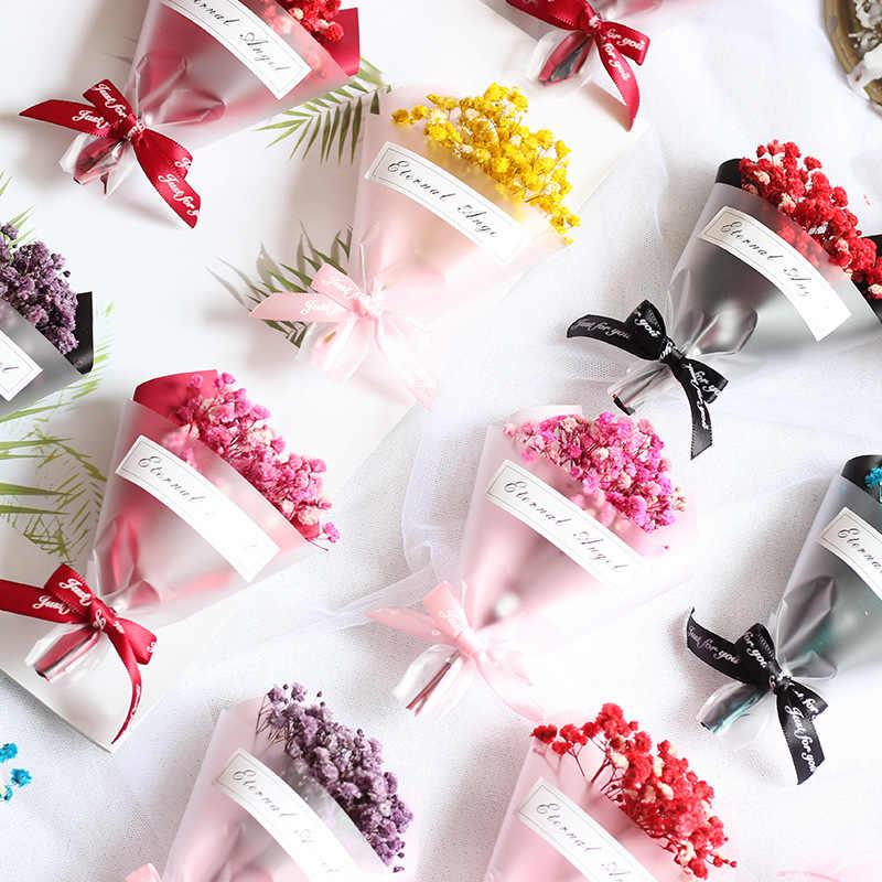 1 بانش من البسيطة Gypsophila باقة زهور مجففة لوازم ديكورات زفاف للمنزل هدية التعبئة والتغليف الكامل نجمة