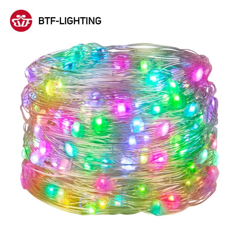 WS2812B RGB светодиодный строка мечта Цвет 5м 50 светодиодный s вечерние светильник s WS2812 торта на день рождения украшения светильник прибор прием...