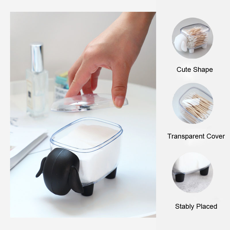 Creative Cute Dustproof Transparent Sheep Shaped Storage Tank Plastic Desktop Storage Box Toothpick Cotton Swab Paper Clips Box|Storage Bottles & Jars|   - AliExpress