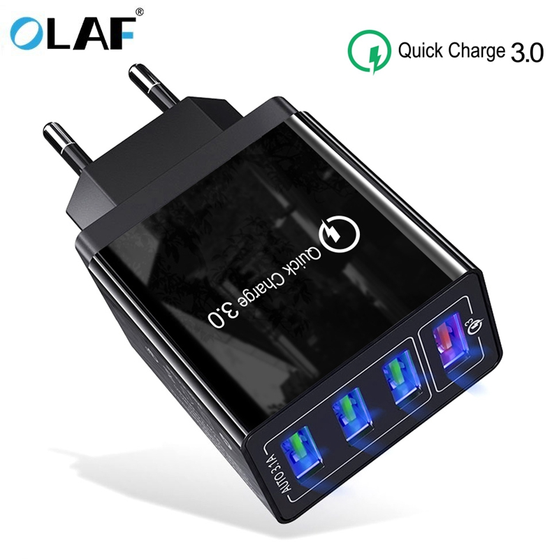 Usb-Charger QC3.0 7-Wall-Adapter 4-Port Xiaomi Mi9 Samsung S10 IPhone X For A50