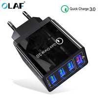 3.1A Charge rapide 4.0 3.0 4 ports USB chargeur USB chargeur rapide QC4.0 QC3.0 pour Samsung S10 A50 Xiaomi Mi9 iPhone X 7 adaptateur mural
