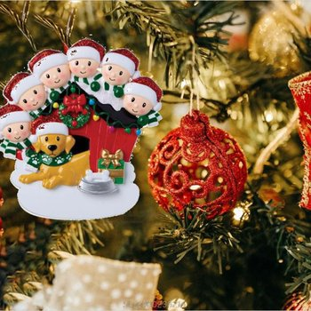 New Year Christmas Ornaments Family Decoration With Dog Pets Personalized Hanging Pendants Party Home Santa Claus Gift For 2020 image
