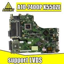 X550ZE Scheda Madre A10-7400 LVDS CPU Per For Asus X550ZA X550Z K550Z VM590Z A555Z K555Z X555Z Scheda Madre del computer portatile X550ZE Mainboard